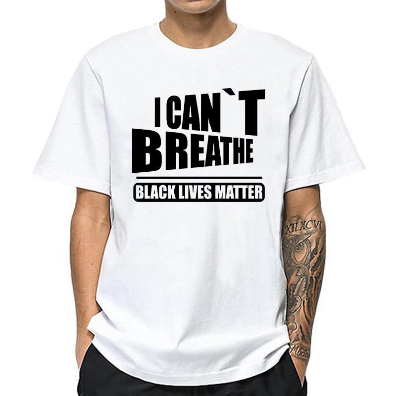 Lettera Stampa Non riesco a respirare T shirt manica corta 2020 di estate O del collo rotondo allentato maglietta Donne Uomo Tee Shirt Tops S-4XL