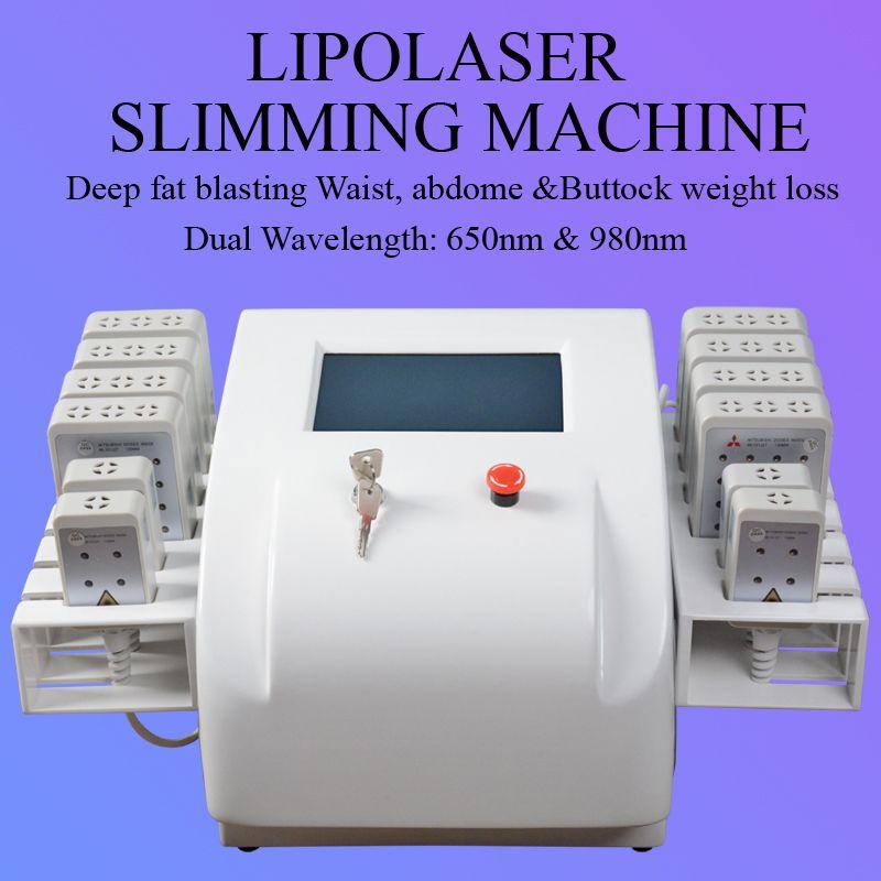 Lipo Laser, der Maschinenfettabsaugunglipolaser-Maschinen abnimmt Körperformung schneller Gewicht-Verlust-Gerät-Laser-Dioden-Fettabbau-Maschine für Verkauf