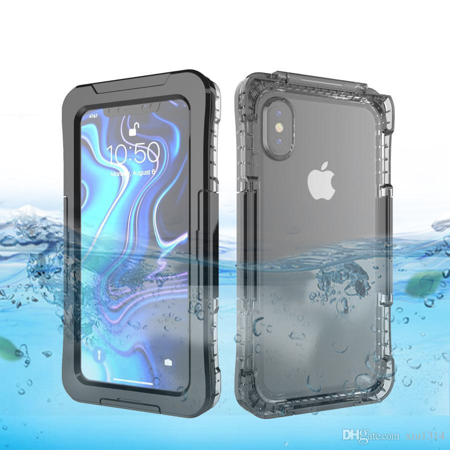 Per iPhone 11 Pro Max Xs Xr X IP68 prova di caso telefono antipolvere impermeabile subacquea nuotare per iphone 7 8 Inoltre 6s 6 completa Caso prova dell'acqua Sealed