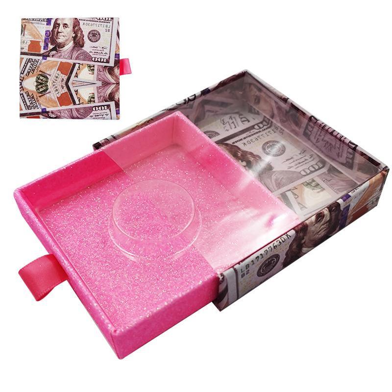 CALIENTE 1pc pestañas embalaje logotipo de la caja de visón pestañas buzón personalizado vacío pestañas del maquillaje Cajas de diferentes estilos