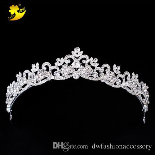 Wedding Hair Tiaras Shining Rhinestones Cheveux Coroa Princesa Beautiful Hot Sale Women Hairs Jewelry Bright Accessories