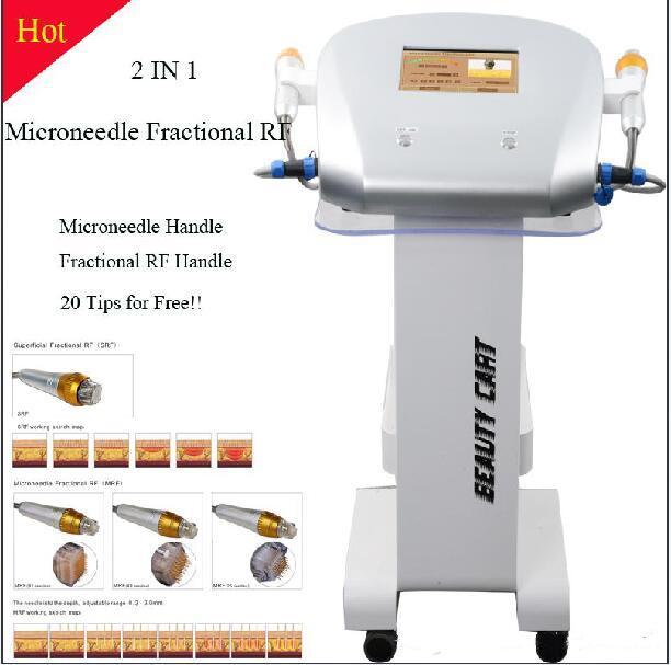 Nouveau design 4 conseils Machine fractionnel RF micro-aiguille Fractional aiguille Micro fractionnel RF peau Soins de beauté machine