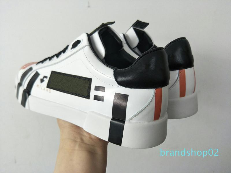 Moda Donna Uomo Designer Shoes di lusso Pelle di leopardo Verde White Suede formatori delle scarpe da tennis casuali lt