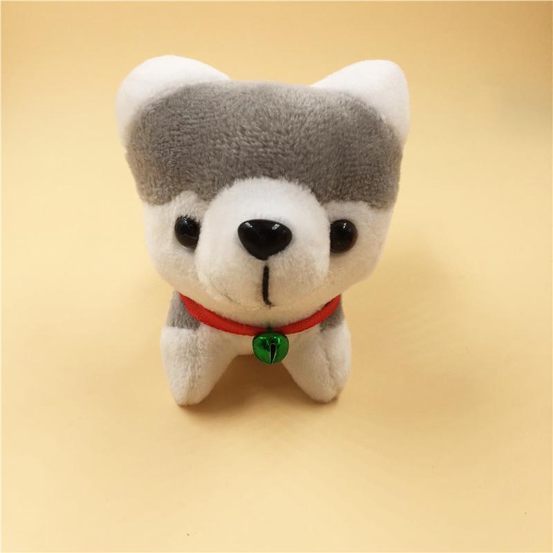 Wholesale 50pcs/lot Cute Husky Dog Plush Keychains Bag Mobile Phone Ornaments Stuffed Animals Soft PP Cotton Plush Toys