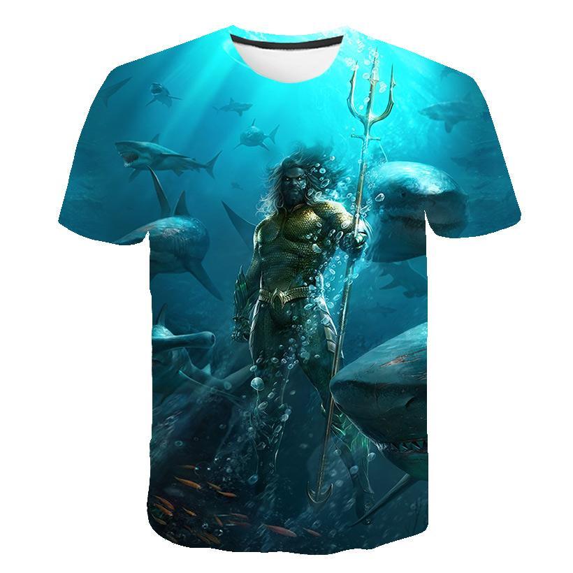 2020 nuevos Mens del verano camisetas de alta calidad O-cuello de manga corta camiseta Sea King camiseta impresa 3D Designer ropa más del tamaño # 952374