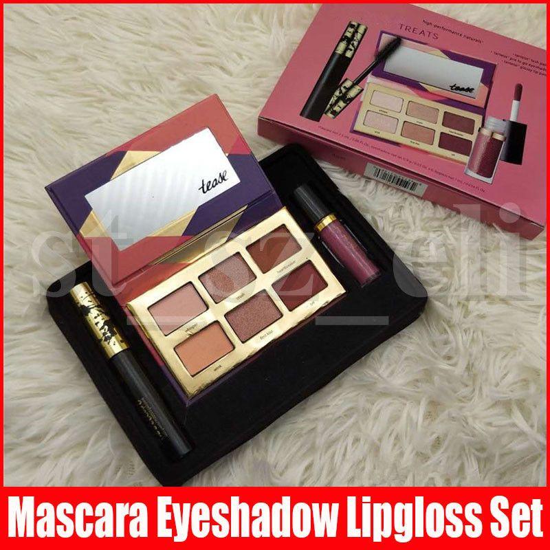 3pcs a Set Makeup 1pc Lash Paint Mascara 1pc Pro to Go Eyeshadow Palette 1pc Glossy Lip Paint Gloss Treats Cosmetic Make Up Kit