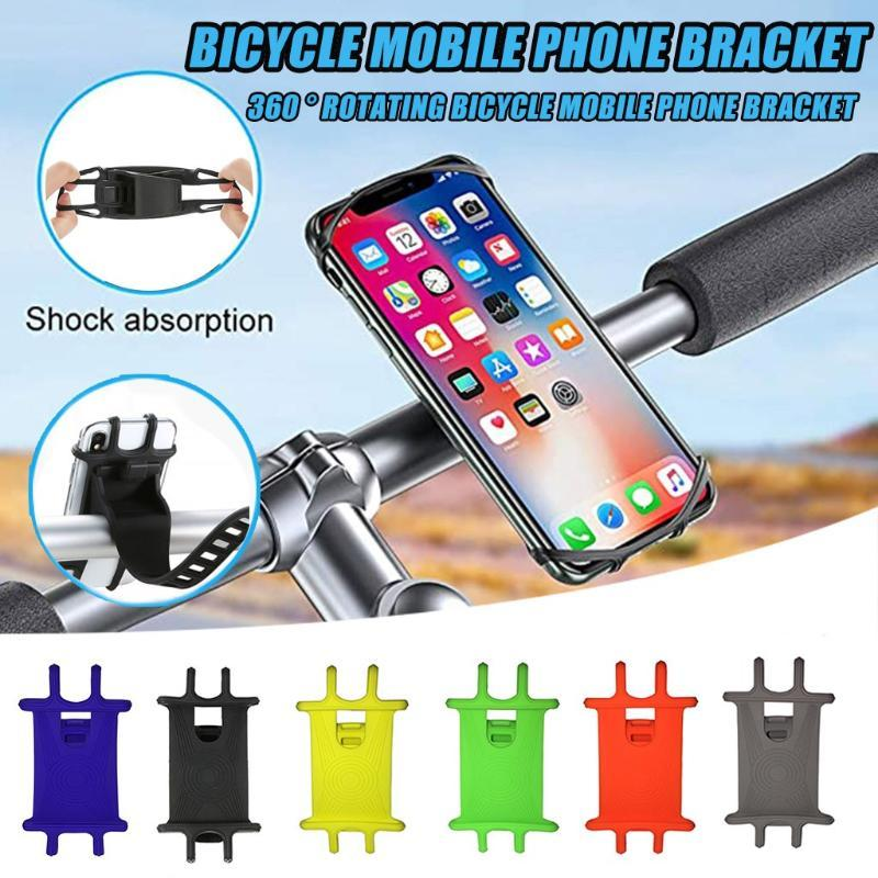 2020 Silicone Bicycle Bike Motorcycle Mobile Phone Holder GPS Handlebar Bracket Stand Telefoonhouder Fiets Bike Accessories F1