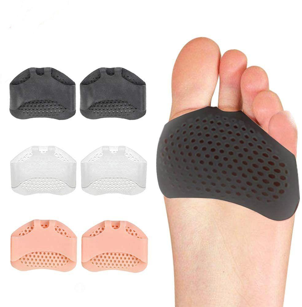 Pannelli metatarsali Palla di cuscini del piede - riutilizzo del piede del silicone riutilizzabile, morbido honeycomb eroga il dolore anteriore inserti per donne e uomini