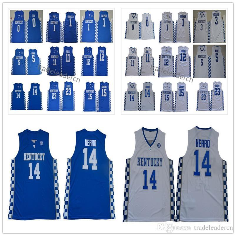 Kentucky Wildcats Tyler Herro Jersey Tyrese Maxey John Steen Anthony 23 Davis Demarcus 15 кузенов Malik Monk College Баскетбол