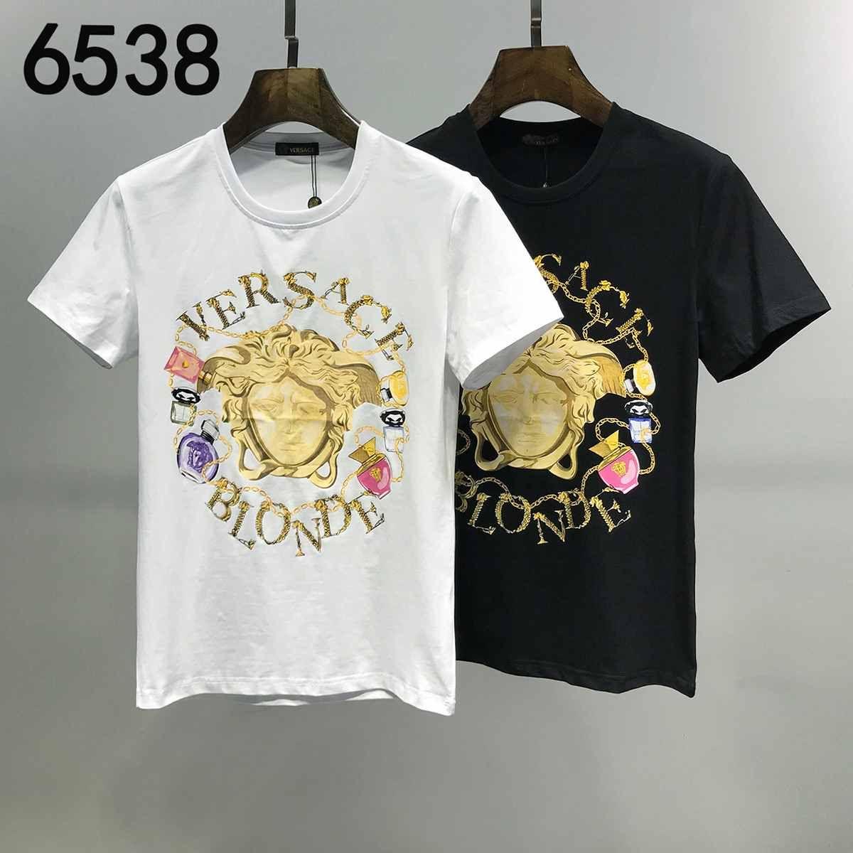 Мужская футболка 2020 Summer New Designer Luxury T-shirt с коротким рукавом Image Print Black White Funny Top мужская футболка № 6538