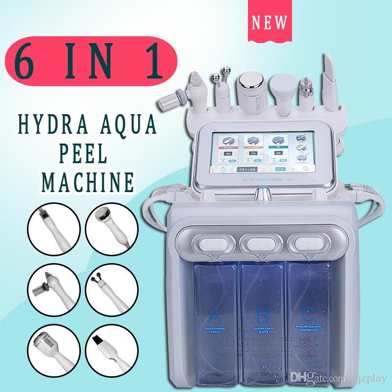 Yeni 6in1 H2-O2 Hydra Dermabrazyon Aqua Soyma RF Bio-kaldırma Spa Yüz Hidro Su Mikrodermabrazyon Yüz Makine Soğuk Çekiç Oksijen Spreyi