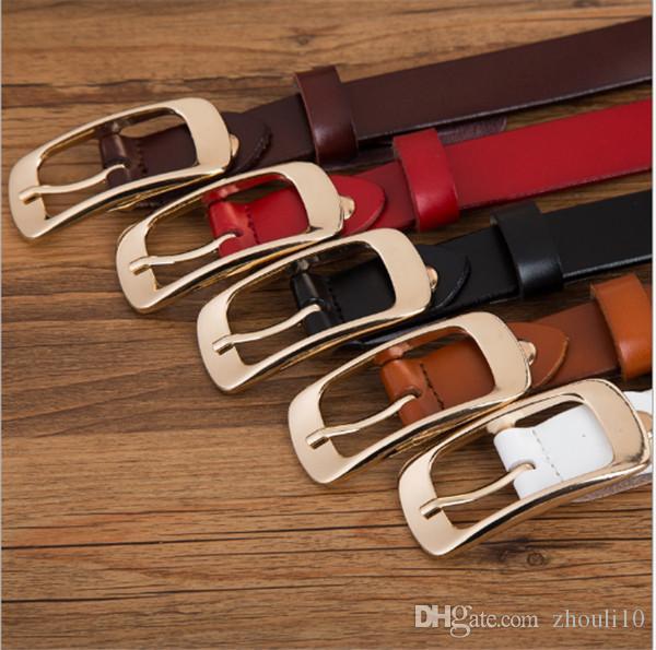2019 Оптовая иглы пряжки пояса женский ковбойская кожа универсальный корейский вариант модные джинсы тонкий кожаный ретро леди ремень