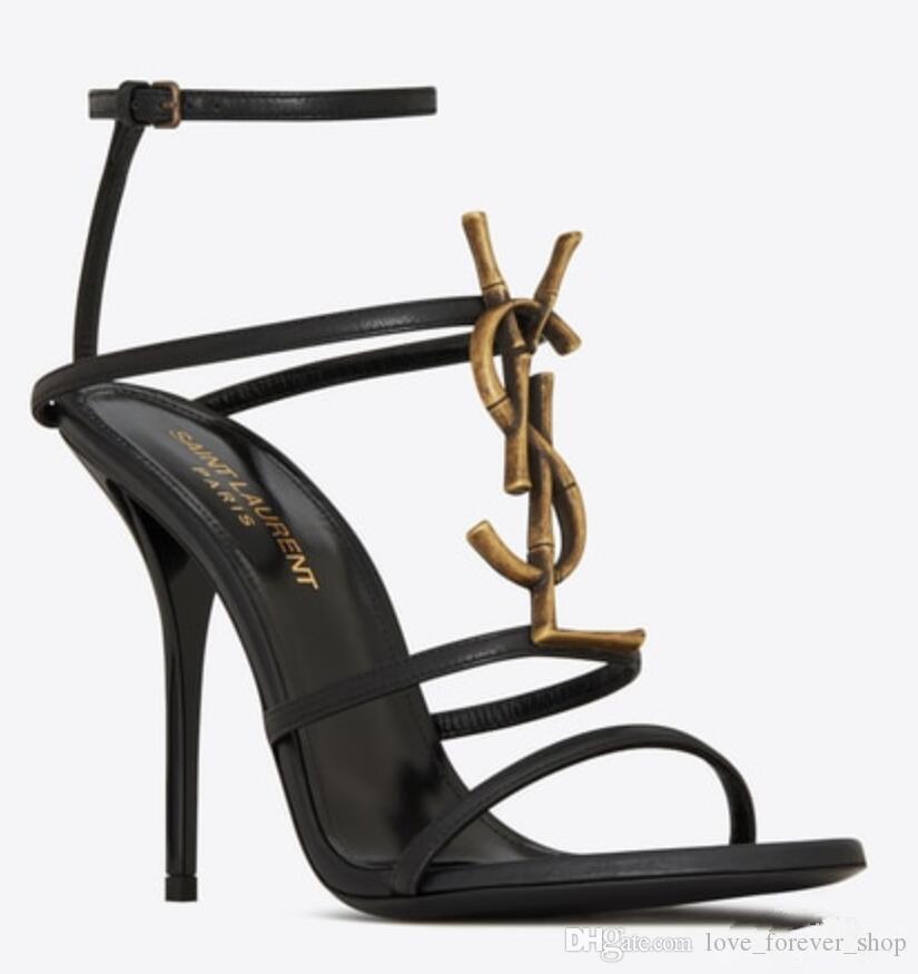 أحذية أحذية ريال صورة العلامة التجارية مثير المرأة الصيف الشريط الإبزيم برشام الصنادل ذات الكعب العالي اصبع القدم موضة واحدة عالية الكعب 10 سم 8 سم