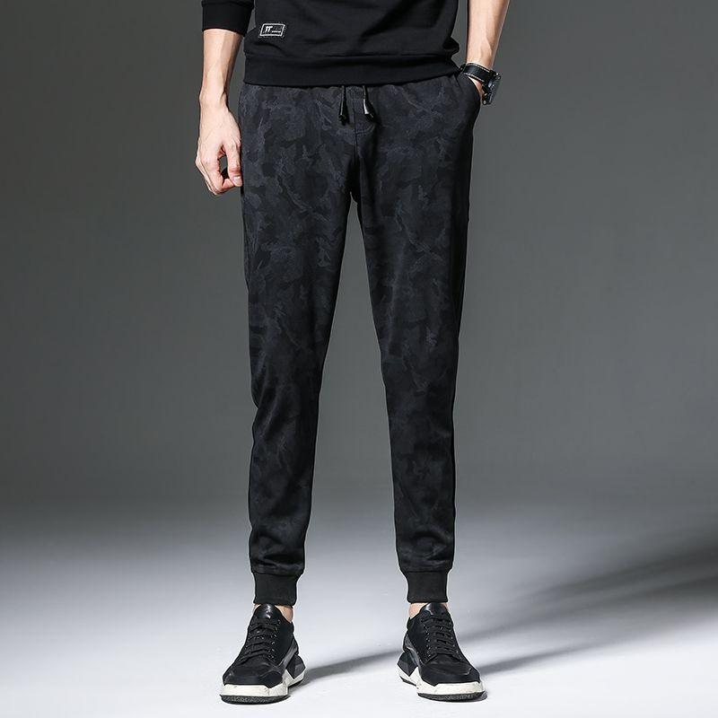 skinny jeans de mezclilla de impresión de la moda clásica para hombres pantalones delgados ocasionales