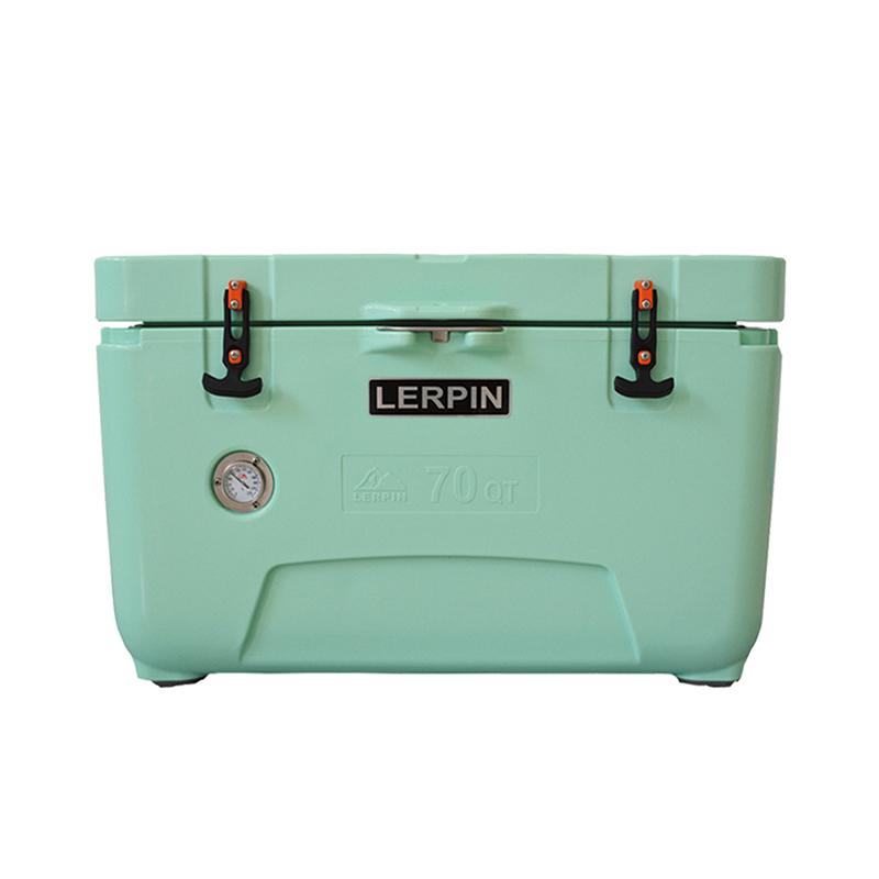 Most Popular Insulation Camping Ice Cooler Box 70QT Size Green Color Traveling and Sporting Cooler Box For BBQ, Fishing, Party