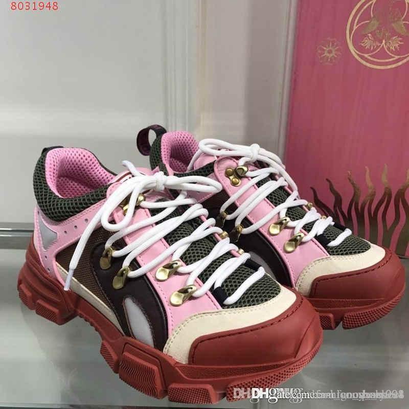2019 dernières Sneakers FlashTrek avec Cristaux amovibles, Bottes et chaussures de montagne net occasionnels femmes Chaussures de randonnée Multicolor Taille 35-41