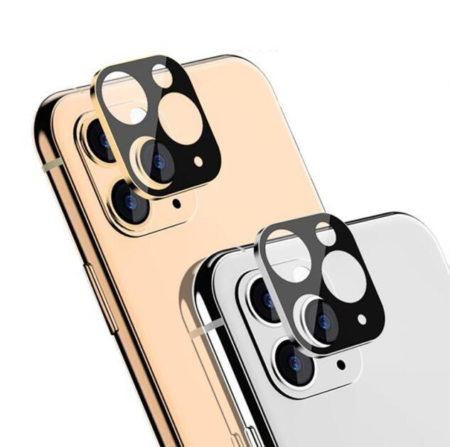 Cámara pantalla de la película del protector para el iPhone 11 Cubierta de cámara Pro Max lente de la cámara de vidrio templado de titanio completa Volver duro para el iphone con la caja 11