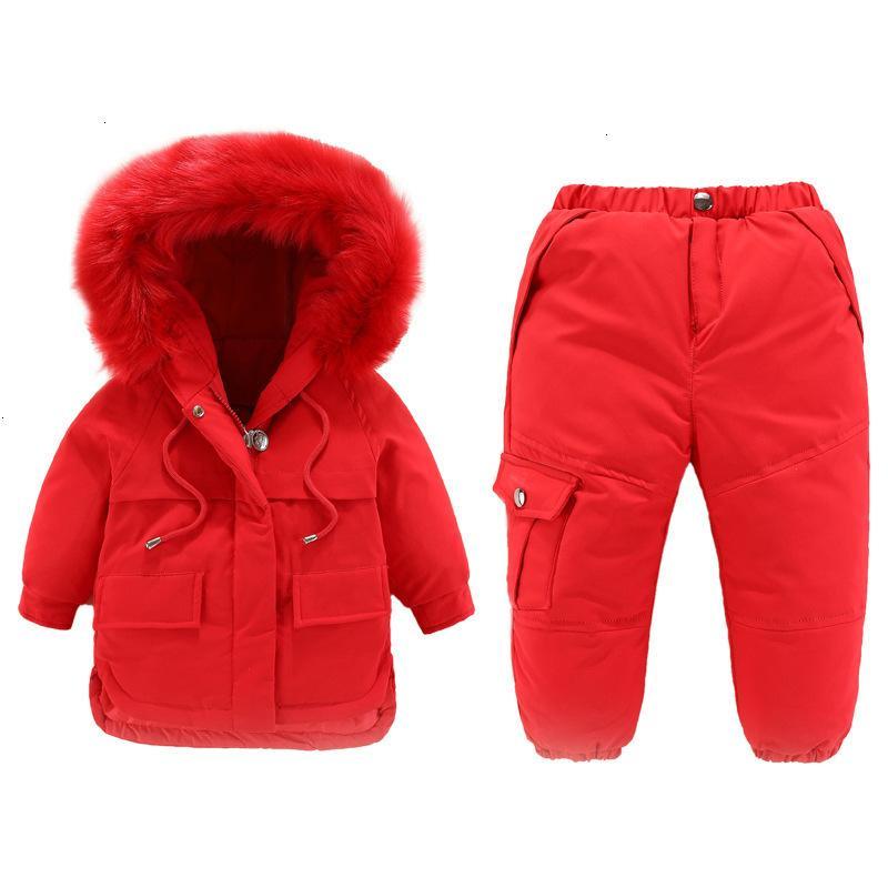 Boys Ski Suits Winter Kids Fashion Thick Warm Down Parkas Clothes Sets for Baby Girl Children Hoodies+Pants 2pcs Tracksuits