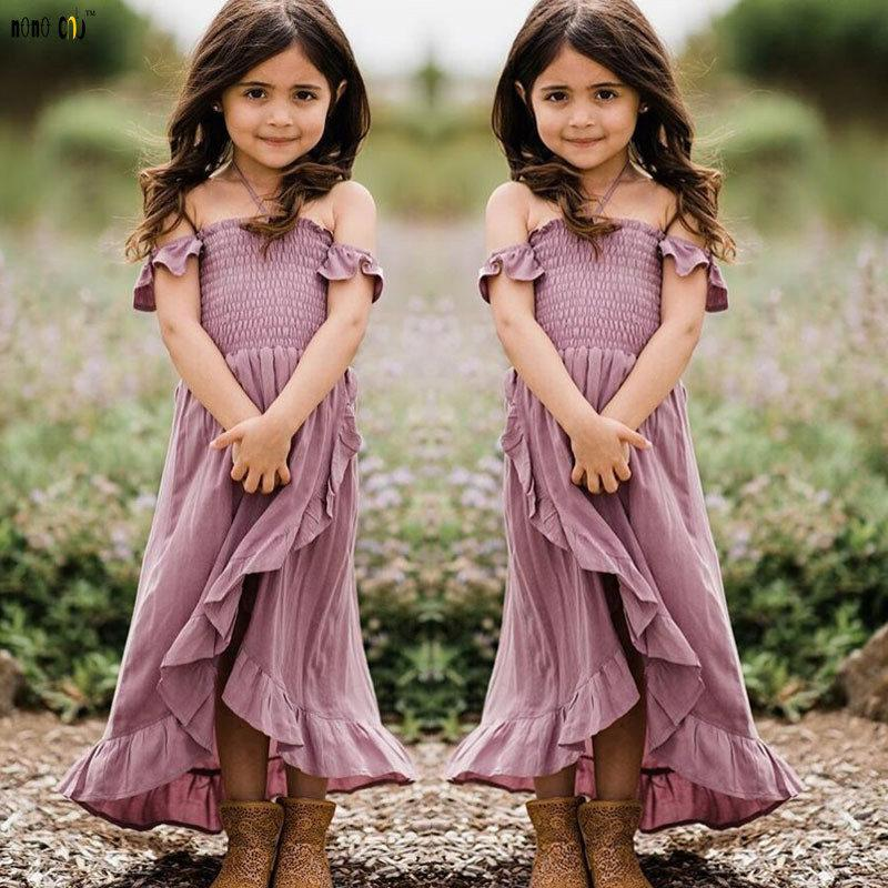 Mother & Kids Mother Daughther Dress Off Shoulder Strapless Irregular Ruffles Beach Dresses Family Match Outfits Girl Clothes 3 4 5 6 7 8 Year Complete In Specifications