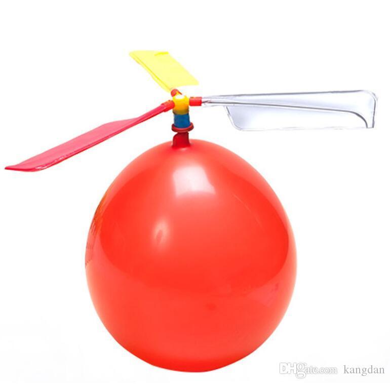 Venda quente Voando Helicóptero Balão DIY balão de brinquedo Brinquedo das crianças Brinquedo auto-combinado Balão Helicóptero Fontes do partido para Crianças