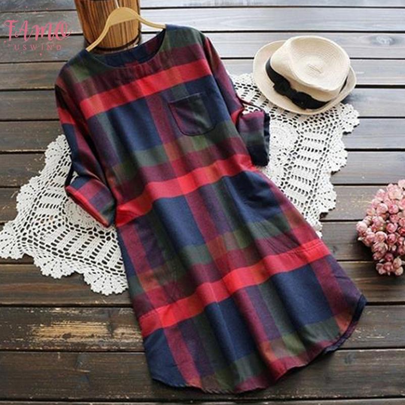 Женщины Длинная Клетчатая Блузка Свободная Повседневная Рубашка Старинные Топы С Длинным Рукавом Элегантные Осенние Пуловеры Уличная Женская Одежда
