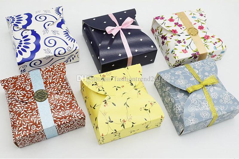 Mini Kleine Mooncake-Boxen Party-Geschenkbox Cookie Keks-Boxen Gebäck Eierkuchen Verpackung