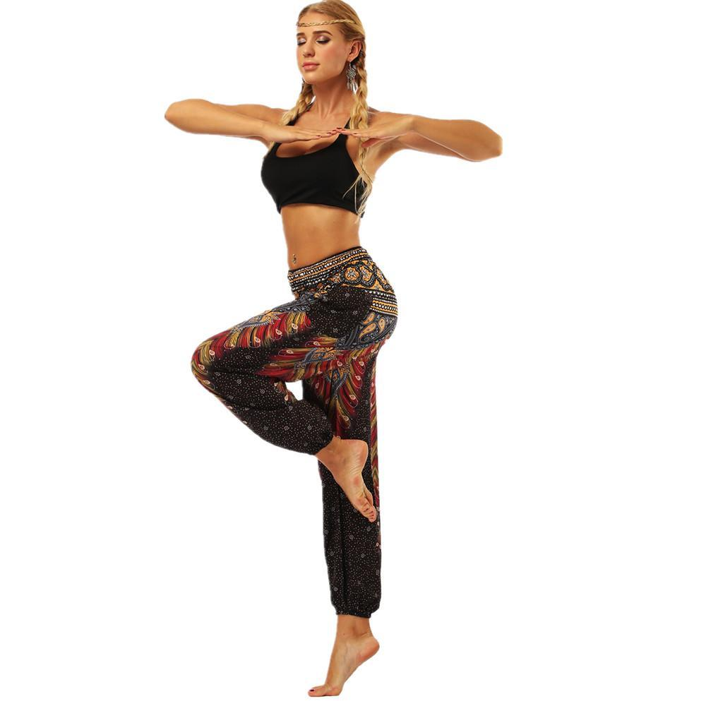 2020 Pocket Yoga Bloomers Exercise Yoga Pants Multicolors Hippie Floral Boho Lounge Clothing Soft Yoga Sports Dance Harem Pants Fy9070 From Spritehuang119 12 78 Dhgate Com