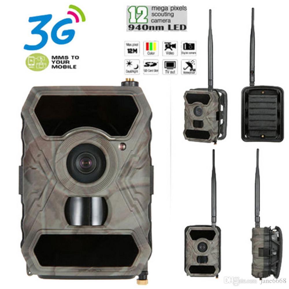10 가지 언어 와이드 라이프 스카우팅 카메라 3G 및 APPs 지원 12MP 1080P 비디오 DVR 레코더 사냥꾼 카메라 방수 IR 사진 무료 배송