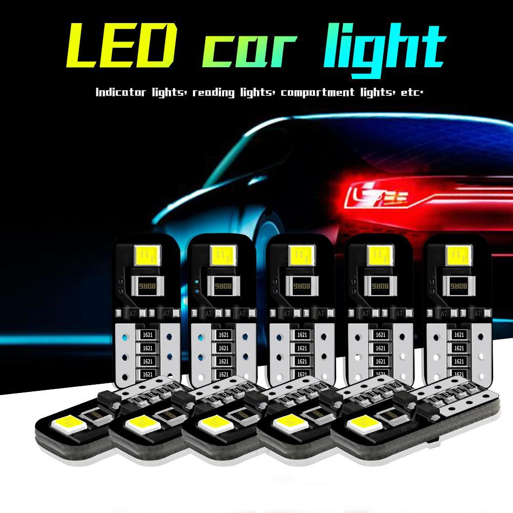 WINSUN 10X T10 W5W في canbus السيارات الخفيفة الداخلية 194 بقيادة 2835 PCV أضواء صك لمبة مصباح القراءة Light12V 6000K الضوء الأبيض