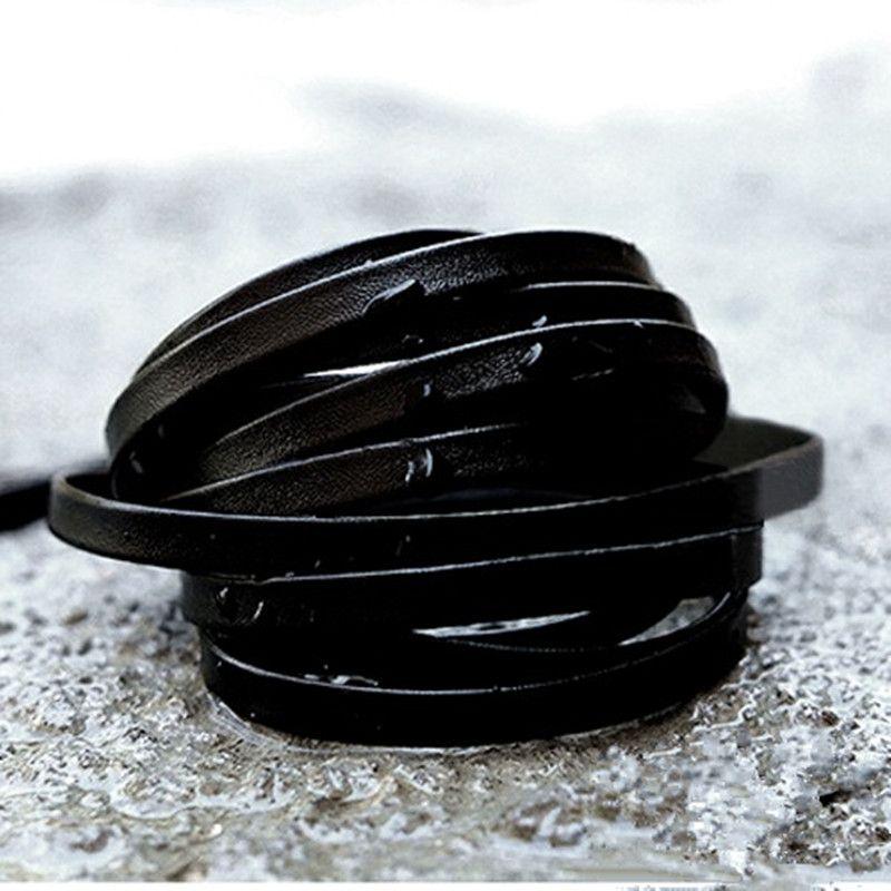 120CM//160CM Flat Leather Shoelaces Soft Waterproof Shoe laces Sneakers Boots