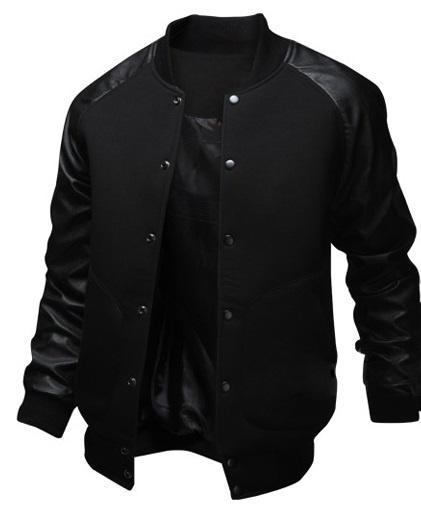 geek nueva chaqueta de hombre bolsillo grande slim baseball