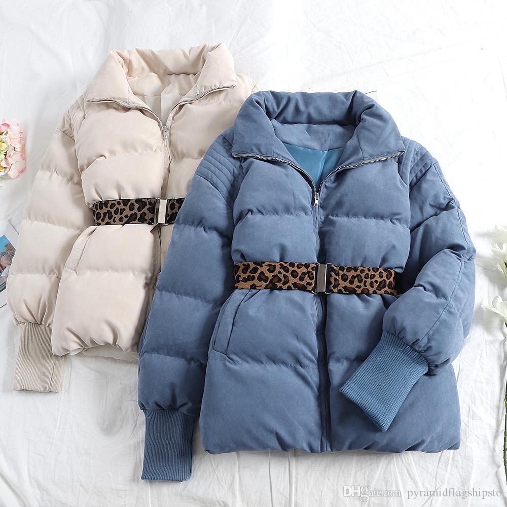 новая мода женская куртка пальто зима стенд воротник молния вниз куртка пальто прилив