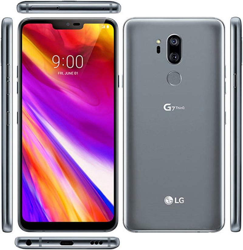 """리퍼 수없는 잠금 해제 된 LG G7 ThinQ G710EM G710N 64G 4G Snapdragon 845 LTE Android octa 코어 리어 카메라 듀얼 16MP 2160P 6.1 """"휴대 전화"""