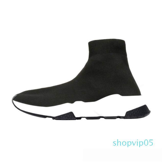 2019 ACE Tasarımcı gündelik çorap Ayakkabı Hız Eğitmen Siyah Kırmızı Üçlü Siyah Moda Çorap Sneaker Trainer rahat ayakkabı 36-45 [kutusuyla] 2020
