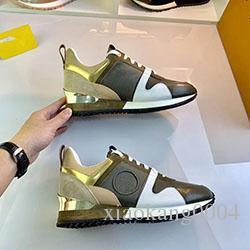 2020 Новый роскошный кожаный ботинки женщин Дизайнерские кроссовки мужчины обувь из натуральной кожи моды смешанный цвет mkl01