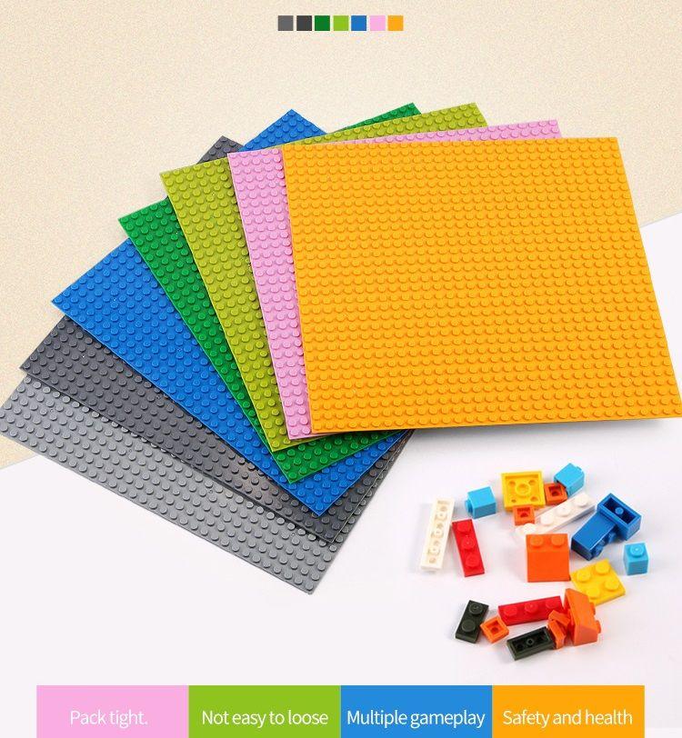 Taban Plakası 32 * 32 16X32 16X16 Nokta Bankası Yapı Taşları Taban Plakası DIY Plastik Tabak Taban Klasik Tuğla Aksesuarları Çocuk Oyuncak
