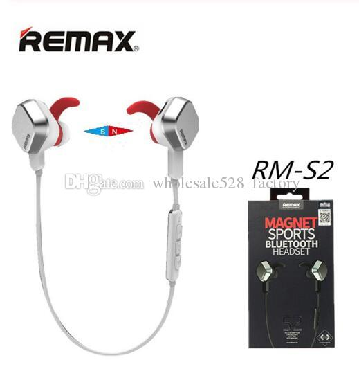 Original Remax Rm S2 Bluetooth Earphone Headphone 4 1 In Ear Sports Mobile Phone Universal Wireless For Smartphones Best Bluetooth Headset Earphones From Wholesale528 Factory 12 57 Dhgate Com