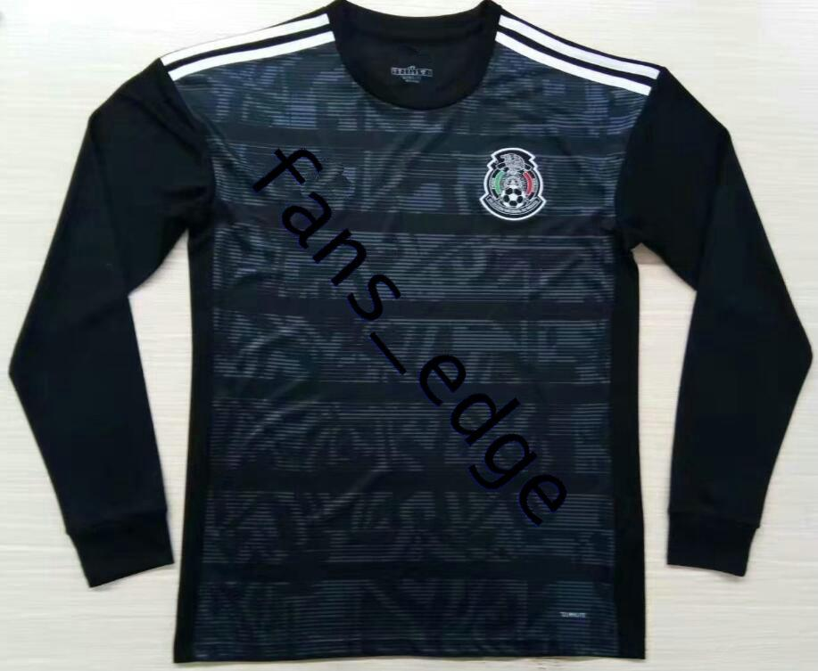 Gold Cup 2019 Camisetas México 19 20 MAN camisa de futebol de manga comprida camisa de futebol 2018 Chicharito LOZANO MARQUEZ DOS SANTOS camisa de futbol