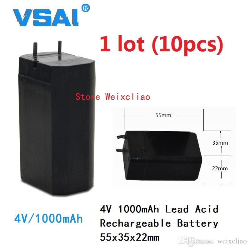 10 قطع 1 وحدة 4 فولت 1000 مللي أمبير 1ah بطاريات الرصاص الحمضية بطارية قابلة للشحن 4V1000 مللي أمبير 1ah 55x35x22 ملليمتر مجانية