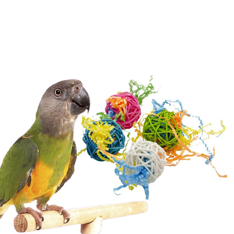 Traumdeutung Parrot Toys For Bird Accessories rattan Cage Decoration Cockatiel Perch Toy Budgie Parakeet juguetes para pajaros