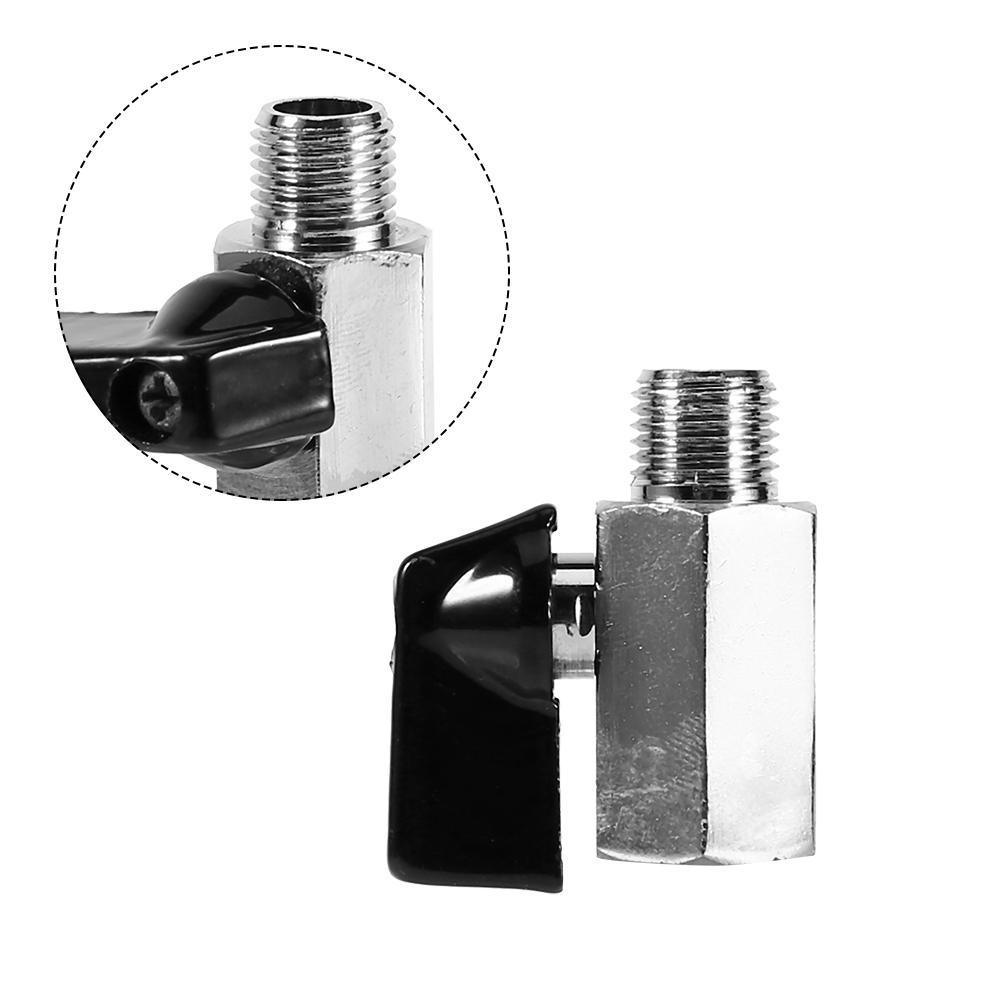 "Mini Ball Valve 1/4"" BSP Female/Male Air Compressor Valves Brass Chrome Plated Water Fuel Control Tools Hose Ball Valve"
