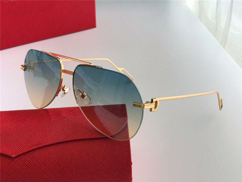 Ücretsiz nakliye yeni moda vaka ile 0013 klasik pilotu hiçbir çerçeve basit gündelik tarzı en kaliteli uv 400 koruma gözlük güneş gözlüğü