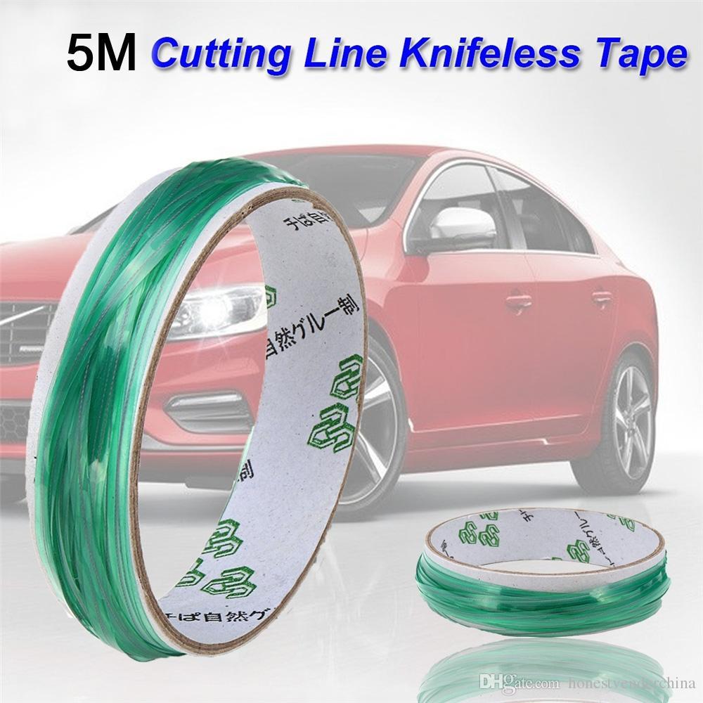 2019 자동 스타일 5m PVC 자동차 랩 Knifeless 테이프 디자인 라인 자동차 스티커 절단 도구 비닐 필름 포장 컷 테이프 자동차 액세서리 New
