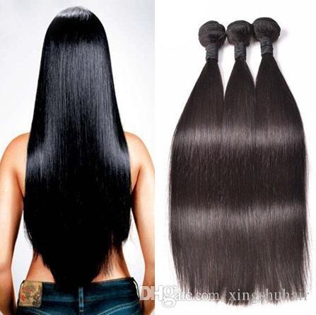 Capelli dritti Capelli brasiliani Bundles peruviano Virgin Human Hair Capelli malesi Malesian Puntinnio indiano 9a Bundles