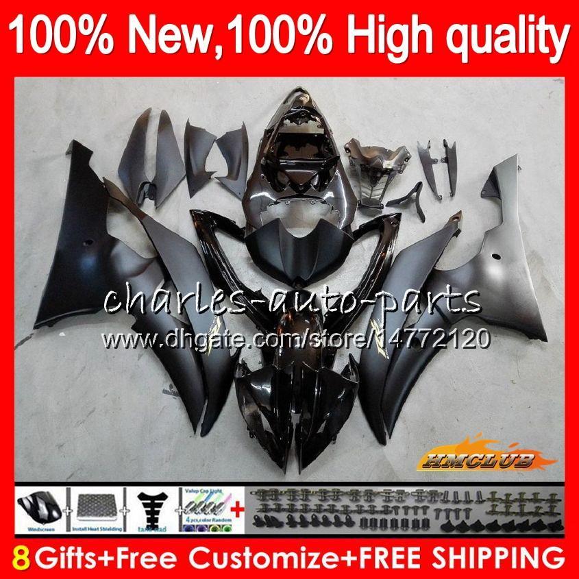 Body For YAMAHA Matte black YZF600 YZF R6 YZF-R6 2008 2016 68HC.17 YZF 600 R 6 CC 600CC YZF-600 YZFR6 08 09 10 11 12 13 14 15 16 Fairings