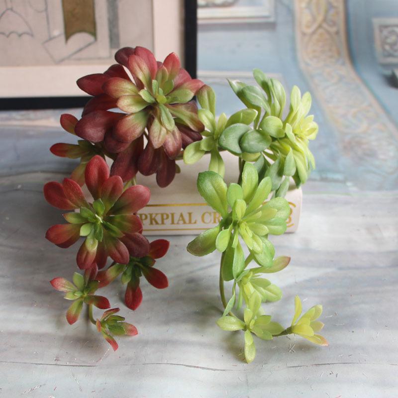 Plantes succulentes artificielles micro-fleur lotus parure accessoires de photographie décoration