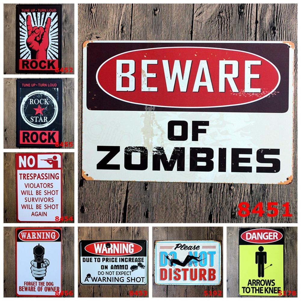 ADVERTÊNCIA METAL TIN Sign Não Estúpido Pessoas Banheiro Banheiro Bar Bar Bar Pub Café Restaurante Decoração Vintage Retro Metal Pintura FFA3509-1