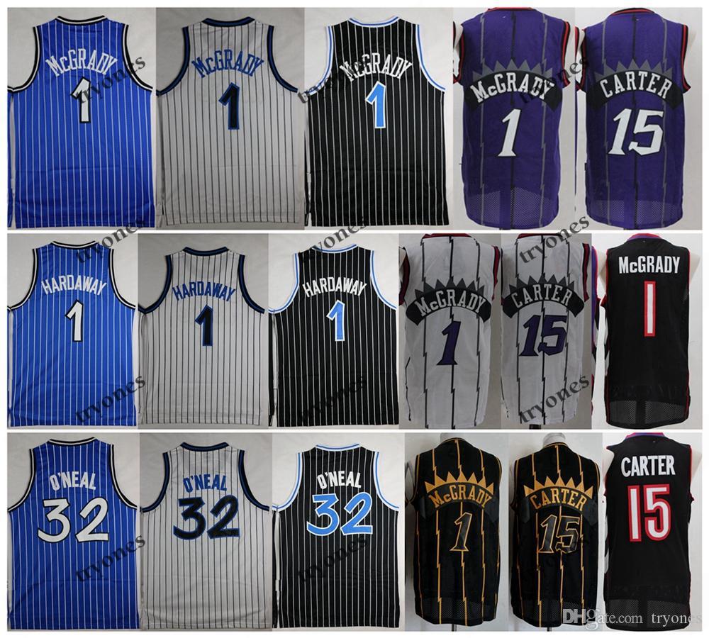 NCAA خمر 1 T-Mac تريسي ماكجرادي فينس كارتر 15 شاكيل أونيل شاق 32 بيني هاداواي كرة السلة جيرسي