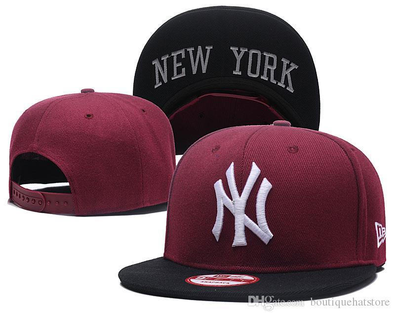 One Piece NY Men's Snapback Hat in Baseball Caps Embroidered team logo Adjustable Cap Brands Cheap Summer Mesh Fresh Bones Chapeu