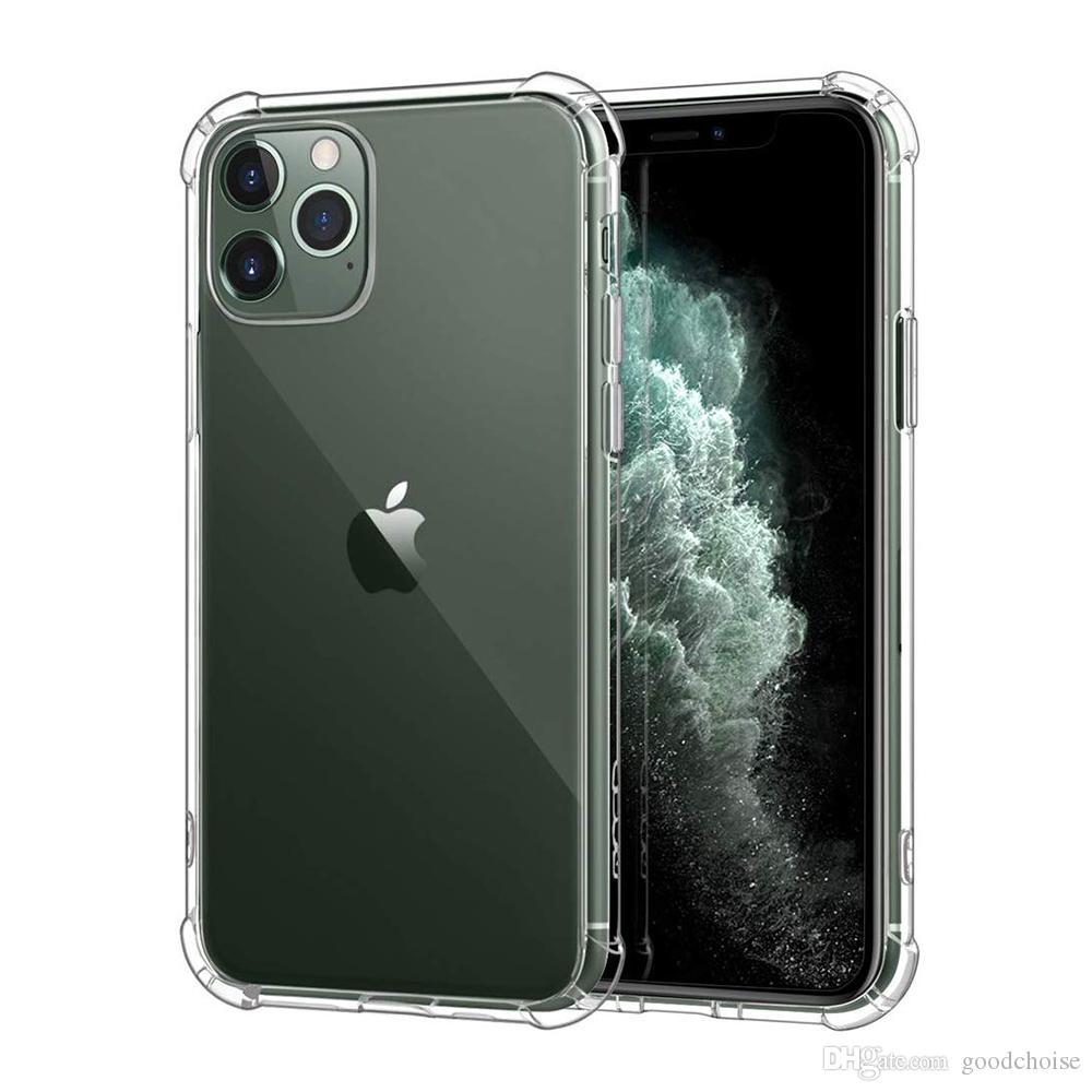 Soft TPU Transparent Clear Phone Case Protect Cover Shockproof Soft Cases For iPhone 11 12 pro max 7 8 X XS note10 S10